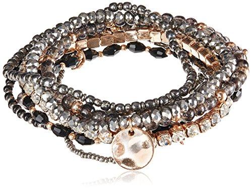 Accessorize Multi Strand Bracelet for Women (Black)(MN-18435903001)