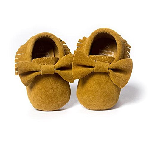 Baby Krippe Troddeln Bowknot Schuhe, Zolimx Kleinkind Turnschuhe Schuhe Gelb