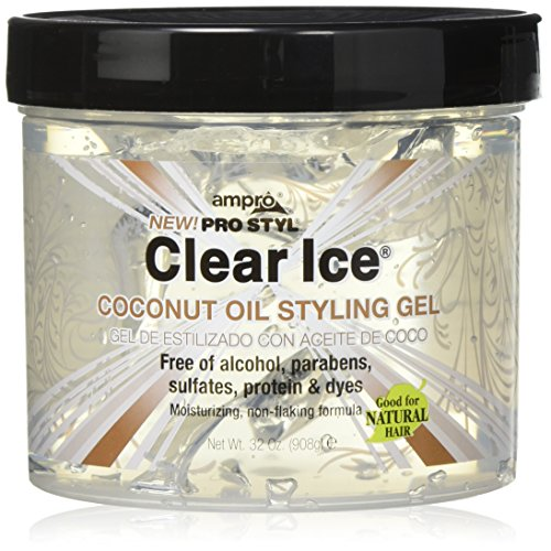 Ampro Clear Ice Coconut Oil Styling Gel, 32 -