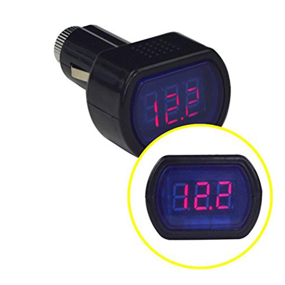 Monitor de voltaje LCD para encendedor Volt/ímetro de coche digital V/álido en todo tipo de veh/ículos Universal