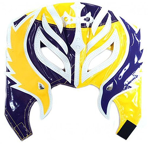 Wwe Rey Mysterio Child Costumes (WWE Rey Mysterio Kid Size Yellow and Purple Half Replica Mask)