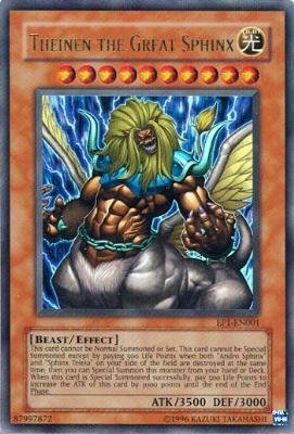 - Yu-Gi-Oh! - Theinen the Great Sphinx (EP1-EN001) - Yu-Gi-Oh The Movie Promo Exclusive Pack - Promo Edition - Ultra Rare