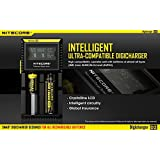 Nitecore D2 Charger with LCD Display Universal Smart Charger For Rechargeable Batteries IMR/Li-ion/LiFePO4/Ni-MH/Ni-Cd