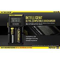 Nitecore D2 Charger with LCD Display Universal Smart Charger For Rechargeable Batteries IMR/Li-ion/LiFePO4/Ni-MH/Ni-Cd