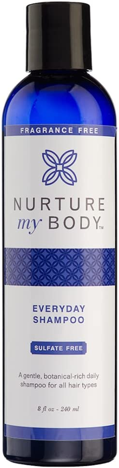 Everyday Shampoo by Nurture My Body | Fragrance Free, All-Natural, Handcrafted with Certified Organic Ingredients | 8oz