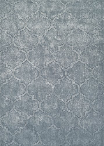 Couristan Matrix Collection Karma Rug, 2 by 3-Feet, Ice Blue