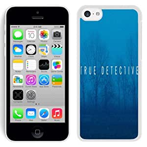 NEW Fashion Custom Designed Cover Case For iPhone 5C True Detective White Phone Case