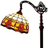 Tiffany Style Reading Floor Lamp Table Desk Lighting Tulip flower W12H64 E26