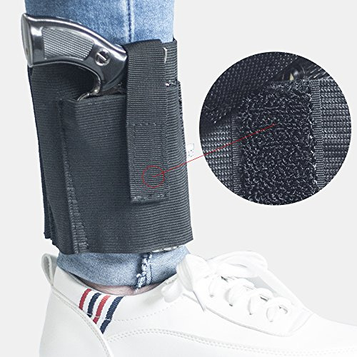 Concealed-Gun-Holster-Tactical-Ankle-Pistol-Holster-Drop-Leg-Universal-Use-Elastic-Wrap-Adjustable-for-Glock-1911-USP-M92-P220-22s-25s-380s-9mms-40s-and-45s