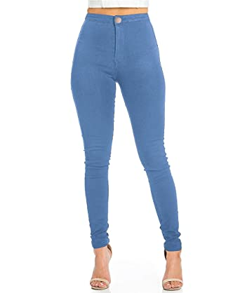 1bf3593e52 Pantalon Femme Slim Jeans Grande Taille Haute Stretch Jeggings Skinny Denim  Pantalons du 36 au 44