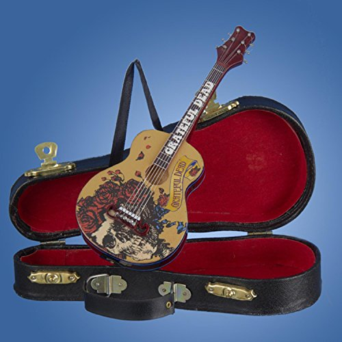 Kurt Adler Grateful Dead Guitar Ornament with Guitar Case, 5.5