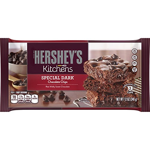 HERSHEY'S Kitchens Holiday Baking, SPECIAL DARK Mildly Sweet Chocolate Chips 12 Ounce (Pack of 12)