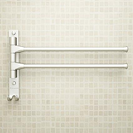 Hlluya Toallero El Espacio de Aluminio de Doble Barra toallero baño Toallas de baño estanterías de