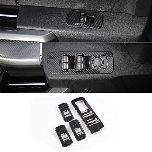 - Voodonala Carbon Fiber Grain Window Lift Panel Switch Trims for 2015 2016 2017 2018 Ford F150 Accessories