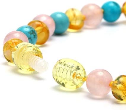 YO-HAPPY Nouveau Design Collier de Perles Kallaite Ambre B/éb/é Femmes Bijoux Dentition Cadeau Perles