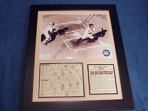 11x14 Framed & Matted Babe Ruth Hits 60th Homerun 1927 NEW YORK YANKEES 8X10 - Photo Home Run Hit