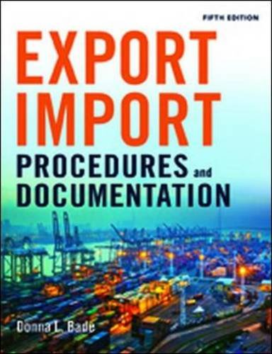 Export/Import Procedures and Documentation (Imports)