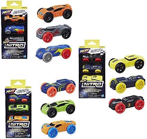 Nerf Nitro C0774EU40, Paquete 3 coches, surtido: modelos aleatorios