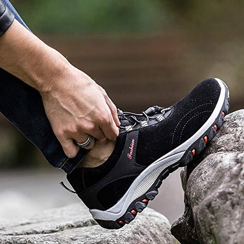 ALIKEEY Moda De Impermeable Manada Botas Senderismo Aire De Los Libre Zapatos Senderismo Sneakers De Hombres Negro Al r4qxr0Tn