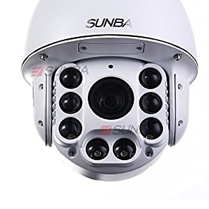 Sunba 805 Series High Speed PTZ Dome, 20X Optical Zoom, IR-Cut Motion Detection w/ IR Distance 250m, Outdoor Waterproof CCTV Camera by Sunba