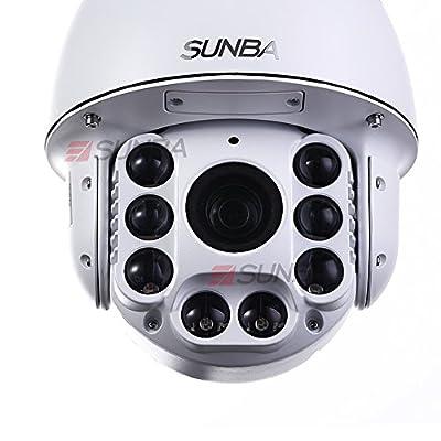 Sunba 805 Series High Speed PTZ Dome, 20X Optical Zoom, IR-Cut Motion Detection w/ IR Distance 250m, Outdoor Waterproof CCTV Camera