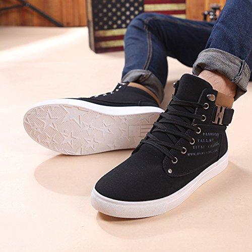 Toamen Hombres Casuales Zapatos Sneakers Negro para Altos 2018 Zapatos rwXAvrq