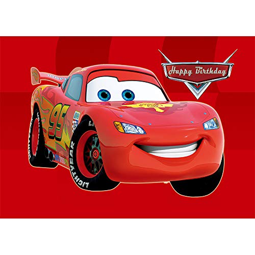 (Red Cars Background Backdrops for Photo Backdrop 7x5 Custom Kids Birthday Party Banner for Boy Custom Vinyl Backdrops)