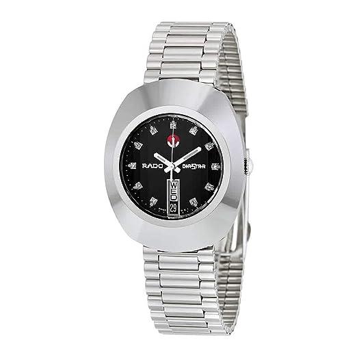 Rado Diastar Jubile Negro Dial Automático Mens Reloj R12408613: Amazon.es: Relojes