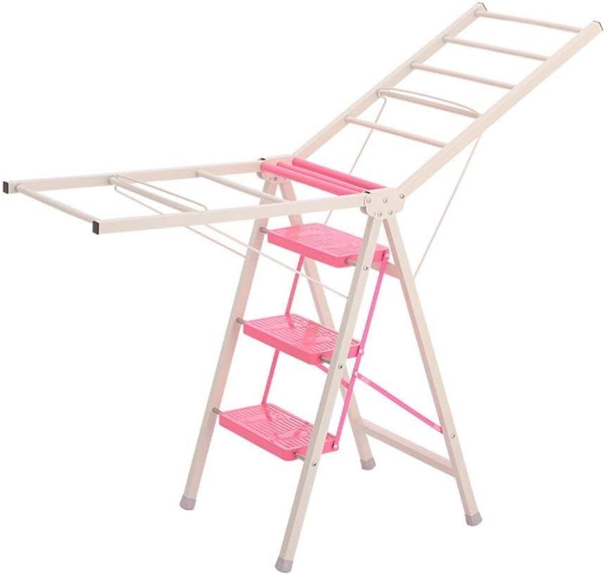 T-Stepladder Taburete de Escalera Escalera de Pie Escalera Plegable Taburete Multifunción Inicio Colgador Multifunción Taburete de Paso de Doble Uso para Interiores, Pink, 50 * 123CM: Amazon.es: Deportes y aire libre