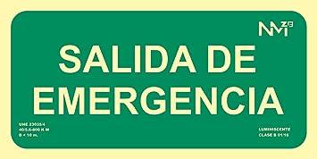 Señal Luminiscente RD13106 Salida De Emergencia ...