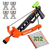 Kids Toy Crossbow Set, Archery Crossbow Set, Bow & Arrow Toy, Basic Archery Set Indoor Outdoor Hunting Game, Bow and Arrow Soft Foam Toy for Kids Boys Girls--Include 4 Targets and 12 Foam Arrows