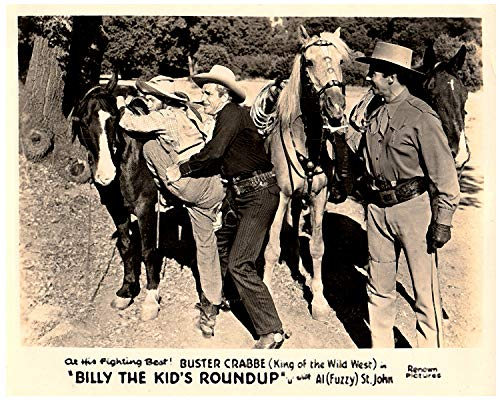 Billy Childs Collection (Billy The Kid's Roundup Original 8x10 Lobby Card Buster Crabbe King of The west)