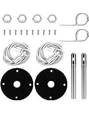1 Pair Universal Car Hood Lock,Aluminum Alloy Hood Pin Locking Kit Racing Mount Bonnet Racing Sport Hair Pin Style Hood Pin Locking Kit Black