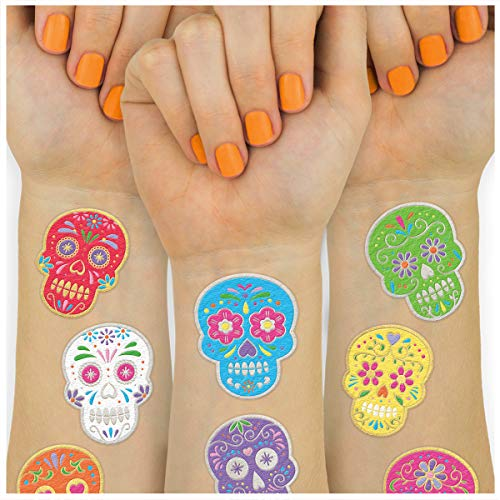 Bollywood Themed Halloween Party (xo, Fetti Halloween Tattoos for Kids - 40 Dia de Los Muertos styles | Sugar Skull, Day of the Dead Decorations, Cinco De Mayo, Mexican Party)