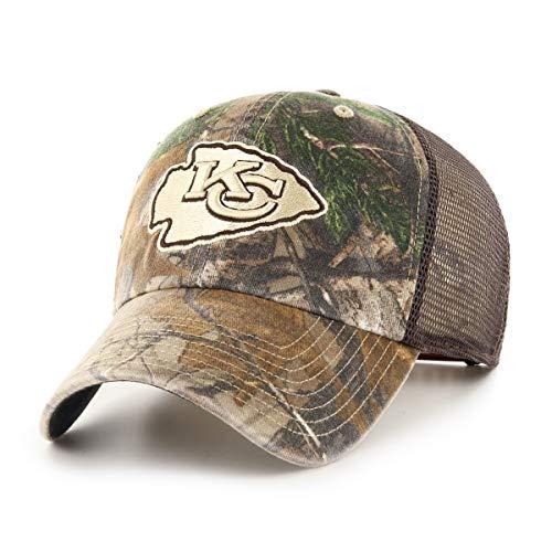 OTS NFL Kansas City Chiefs Male Ledgewood Challenger Adjustable Hat, Realtree, One -