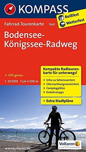 Bodensee-Königssee-Radweg: Fahrrad-Tourenkarte. GPS-genau. 1:50000. (KOMPASS-Fahrrad-Tourenkarten, Band 7047)