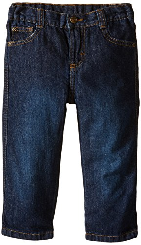 Wrangler Authentics Boys' Relaxed Straight Jean, blackened blue, 2T
