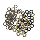 WSSROGY 100 Sets Craft Grommets Eyelets with Washers for Clothes Leather Canvas - 3/8' (10MM) Hole (Antique Brass)