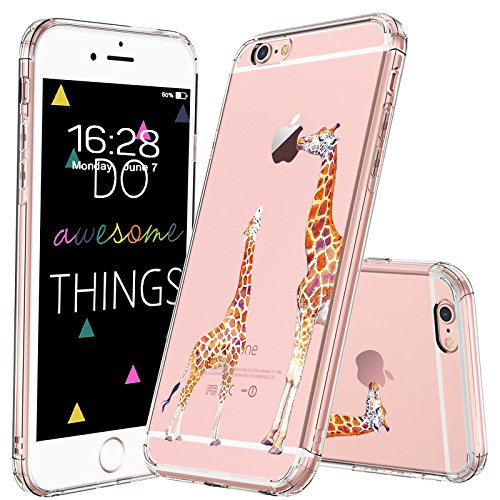 best service 43d0b 622c6 MOSNOVO iPhone 6S Plus Case/iPhone 6 Plus Case, Cute Giraffe Clear Design  Printed Transparent Plastic Hard Back Case with Soft TPU Bumper Protective  ...