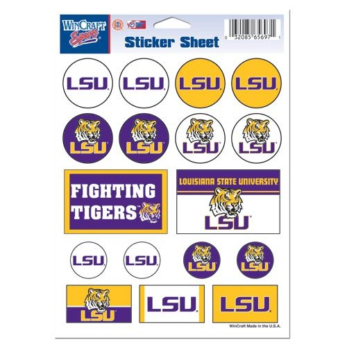 State University Tigers (NCAA Louisiana State University Vinyl Sticker Sheet, 5
