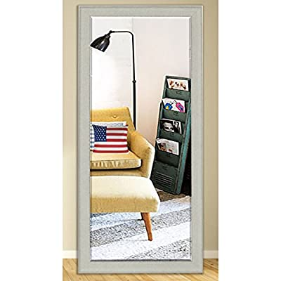 Rayne Mirrors US Made Vintage White Beveled Full Body Mirror - White/Silver Exterior: 28.5 X 69 - American Made/ Handcrafted Drywall anchors and screws provided Vertical and horizontal hanging hardware installed - mirrors-bedroom-decor, bedroom-decor, bedroom - 51DTnewUbhL. SS400  -