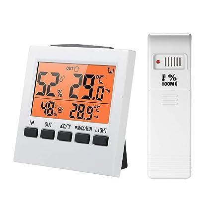 KKmoon LCD Digital inalámbrico interior/exterior termómetro higrómetro ℃ / ℉ temperatura humedad medidor con