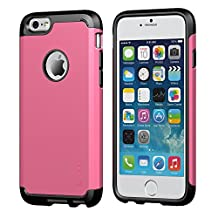 iPhone 6 Plus Case, LUVVITT® ULTRA ARMOR iPhone 6 Plus Case / Best iPhone 6 Plus Case that Fits 5.5 inch Screen | Double Layer Shock Absorbing Cover (Does NOT fit iPhone 5 5S 5C 4 4s or iPhone 6 4.7 inch screen) - Black / Pink