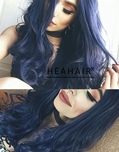 Heahair New Arrival Dark Root Fashion Sexy Synthetic Ombre Lace Front Wigs (Mermaid Wig In Blonde)