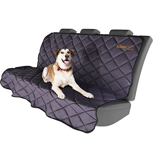 Blanket Dog Water Resistant - Fuzziebud Pet Car Seat Protector - Oxford Microfiber, Machine Washable, & Water Resistant (One Size Fits All Back Seats With Headrests)