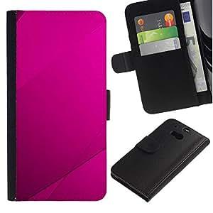 NEECELL GIFT forCITY // Billetera de cuero Caso Cubierta de protección Carcasa / Leather Wallet Case for HTC One M8 // Purple Azulejos