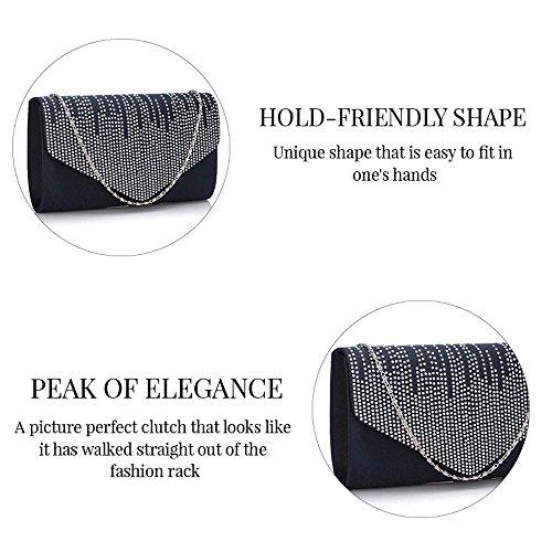 Bolso de mano para mujer, diseño de lentejuelas, para fiesta de graduación, boda, fiesta de tarde Ivory Envelope Clutch