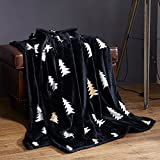 Double thick blanket two-sided coral fleece blankets lazy bones and warm fleece blanket double Leisure Afternoon nap Blanket blanket ,150x200 single tier 2 pounds, Black Forest
