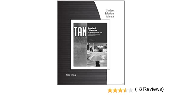 Student solutions manual for tans applied calculus for the student solutions manual for tans applied calculus for the managerial life and social sciences a brief approach 9th soo t tan 9780840068477 fandeluxe Image collections