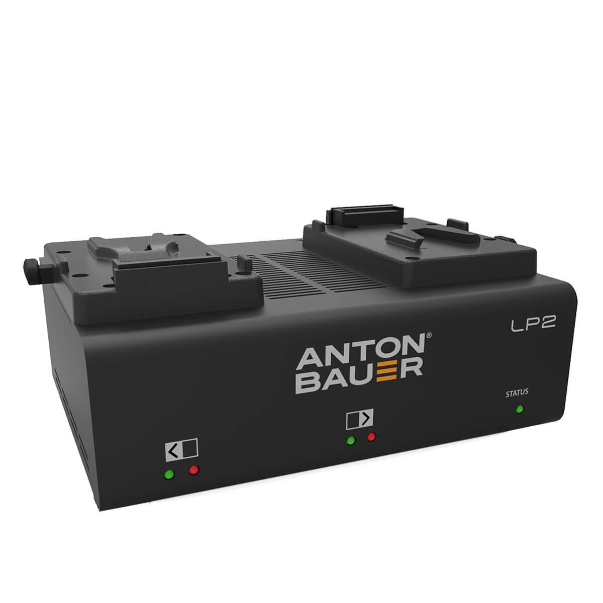 Anton Bauer lp2低プロファイルデュアルV -マウントpriority-based同時2-positionバッテリーPowercharger with LED表示   B00VJCCECA